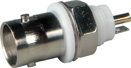 Isolated 50 Ohm BNC Chassis Mount Female BNC Connector