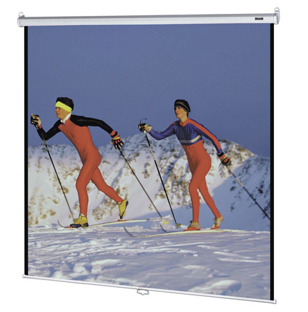 Da-Lite 85308 96x96 Matte White Projection Screen with Control Return