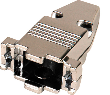 D-Sub 9-Pin Metal Hood for 9-Pin D-Sub Connectors & Plenum Cable