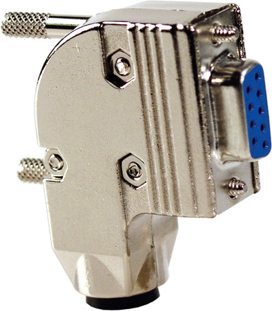 Right Angle Metal Hood for HD15-Pin & 9-Pin D-Sub Connectors
