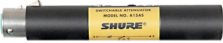 Shure A15AS 15dB / 20dB / 25 dB Switchable Attenuator