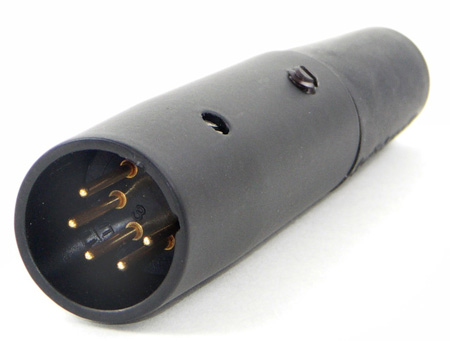 Switchcraft A5MBAU 5 Pin XLR Male Connector (Black/Gold)