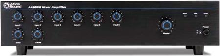 Atlas AA120M 120 Watt Six Input Mixer Amplifier w/ Module Input