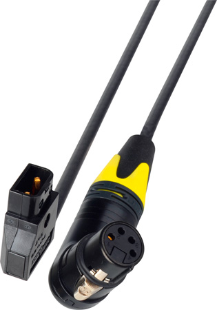 PowerTap Male to Right Angle 4-Pin XLR Female DC Power Cable - 1-Foot
