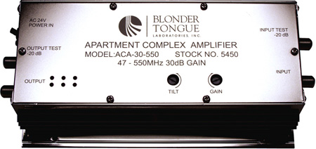 Blonder Tongue ACA-30-550 Apartment Complex Amplifier 30 dB/47-550 MHz