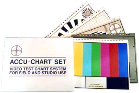 Accu-Chart AC-3 Set of 5 Test Charts 12.5 in. x 10 in.