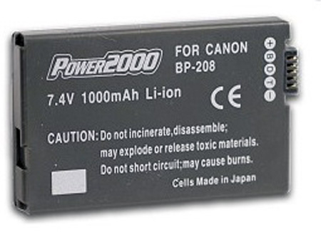 7.4V 1000Mah Li-ion battery for Canon BP-208