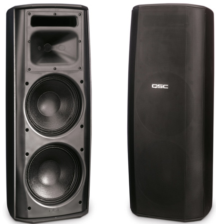 QSC AD-S282H AcousticDesign Series Surface Mount Loudspeaker (Black)
