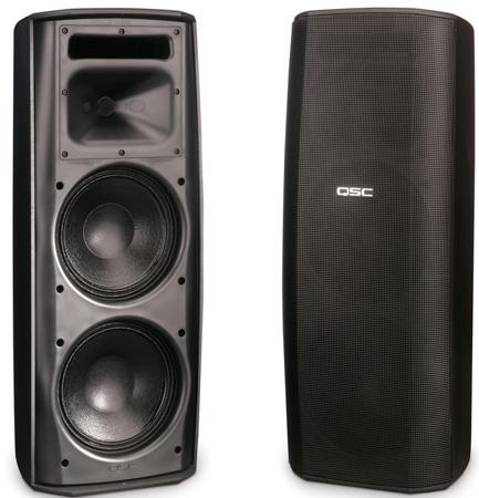 QSC AD-S282H AcousticDesign Series Surface Mount Loudspeaker (Black)