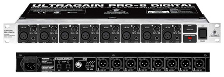 Behringer ADA8000 Ultragain Pro 8 Digital 8 Channel Converter & Preamp