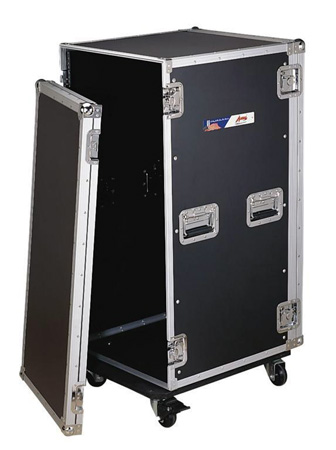 12sp Rack Case with Casters 21 in Deep