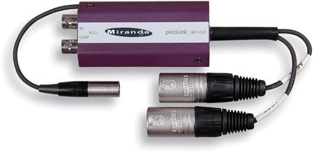Miranda ADX-172p Picolink Dual 75ohm AES/EBU Demultiplexer