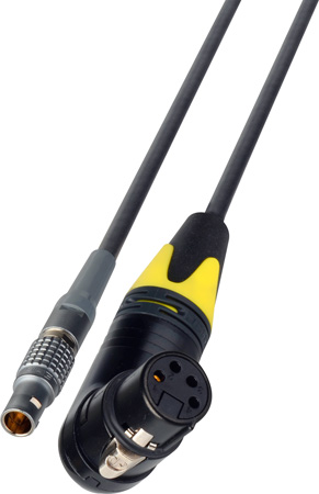 RA 4-Pin XLR Female to Lemo 4-Pin AJA KiPro Series Power Cable - 7-Foot