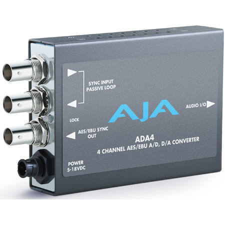 AJA ADA4 4 Channel Bi-Directional Audio A/D and D/A Converter