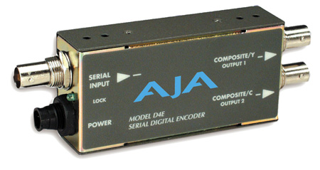AJA D4E SDI To Composite or S-Video Transcoder