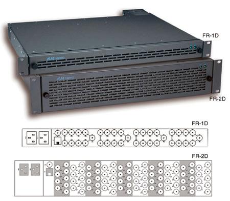 AJA FR2D 2RU 10-Slot Frame 100W Forced Air Cooling Dual Power Supply