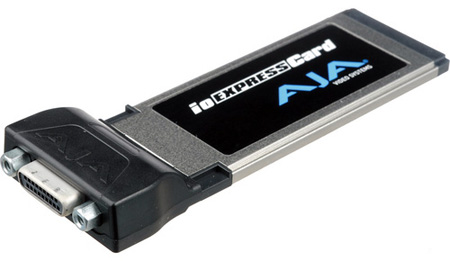 AJA IOXPRESSCARD ExpressCard34 PCIe to PCIe Cable Interface Adapter