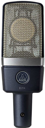 AKG C214 Cardioid Condenser Studio Mic With 1in Diaphragm