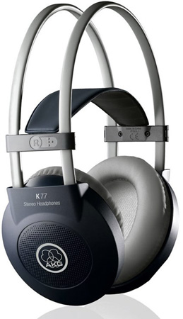 AKG K 77 Full Size Sealed Headphones With Single Sided Input Cable