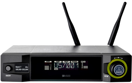 AKG SR 4500 True-Diversity HiQNet-Compatible UHF Receiver (Band 1)