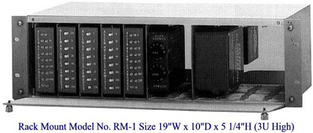 Rack Mount with Metal Door Holds Up to 5 RMC-2 and 10 Units