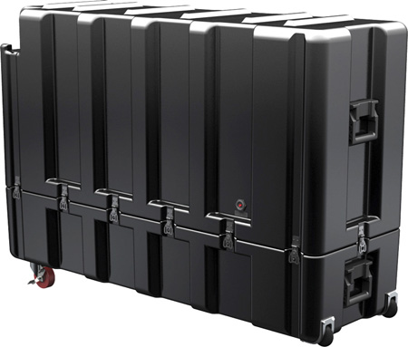 Pelican-Hardigg AL5415 X-Large Shipping Case For Flat Screen Monitors - Black