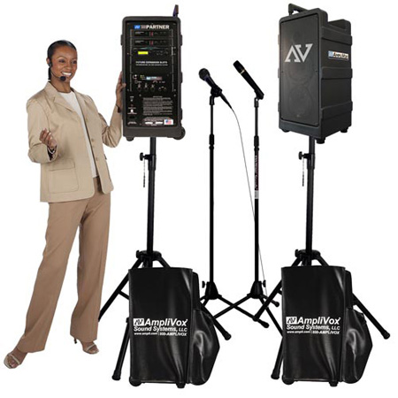Amplivox B9154 Platinum Digital Audio Travel Partner Package with 2 Handheld Wireless Mics