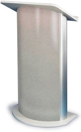 Amplivox SN3125 Grey Granite Contemporary Lectern with Curved Front Design