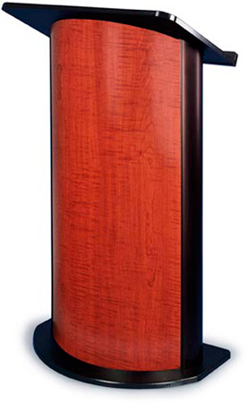 Amplivox SN3145 Sippling Seattle Java Contemporary Lectern w/Curved Front Design