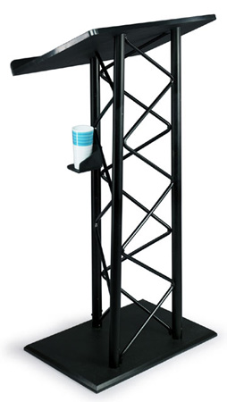 Basic Black PVC and Aluminum Truss Lectern