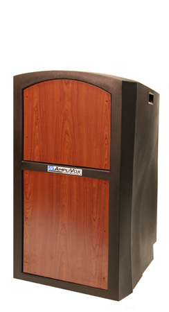 Amplivox SN3250-MO Pinnacle Non-Sound Full Height Lectern with Medium Oak Panel