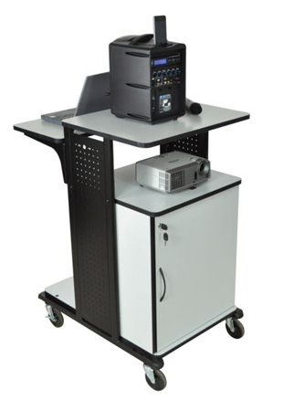 Multimedia Work Station with Cabinet