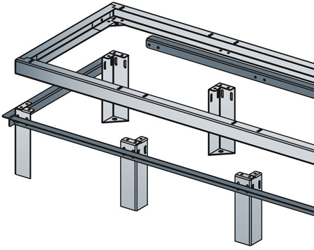 Middle Atlantic ANGLE-5 Pair Raised-Floor Support Angles