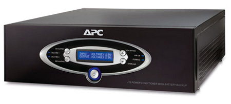 APC J10BLK AV Black J Type 1kVA Power Conditioner with Battery Backup 120V
