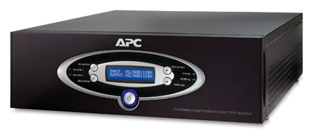 APC J15BLK AV Black J Type 1.5kVA Power Conditioner with Battery Backup 120V