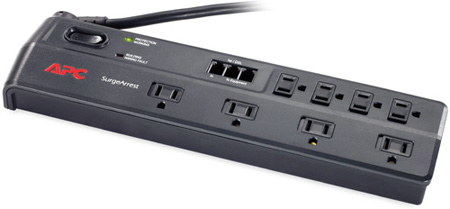 APC P8T3 Home/Office Surge Protector/ 8 Outlet/ Phone Line w/Splitter
