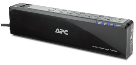 APC P8VNTG Audio/Video Power-Saving Surge Protector - 8 Outlet