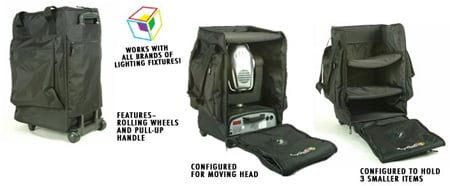 Arriba AC-165 Moving Head Style Bag w Wheels and Pull Up Handle