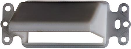 Arlington CEDH1 Horizontal Low-Voltage Cable Entrance Plate White