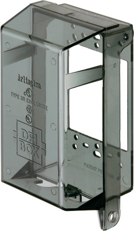 Arlington DBPV1C DRI-BOX Adapter - Vertical Mount. Clear