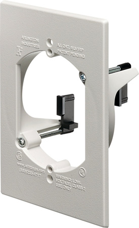 Arlington LV1RP 1-Gang Low Voltage Mounting Bracket White