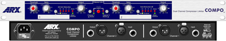 ARX Compo Operates As Two Independent Compressor/Limiters 1RU