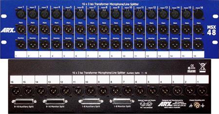 ARX MSX48 16 Channel / 3 Way Transformer Splitter