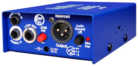 ARX PDI-1 Audibox Pro DI Active Direct Box with High-Z & Speaker Level Inputs