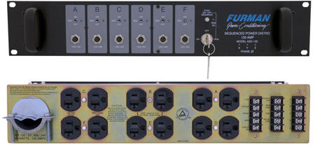 Furman ASD-120 AC Sequenced Power Distribution - 120 Amp
