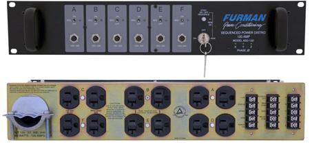 Furman ASD-120 AC Sequenced Power Distribution - 120 Amp