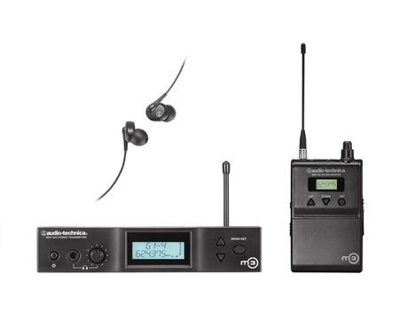 Audio Technica M3 Wireless In-Ear Monitor System - Band M: 614.000 - 647.000 MHz