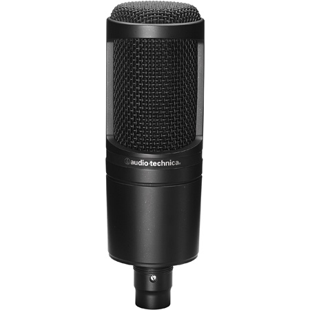 Audio-Technica AT2020 Cardioid Condenser Microphone with Stand Mount