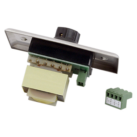 Atlas AT35 35W Single Gang Stainless Steel 70.7V Commercial Attenuator