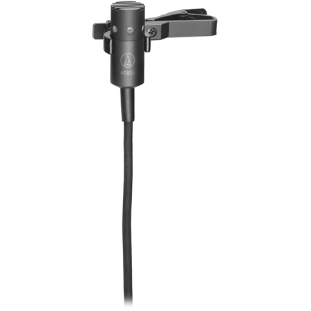 Audio-Technica AT831b Miniature Cardioid Condenser Lavalier Microphone